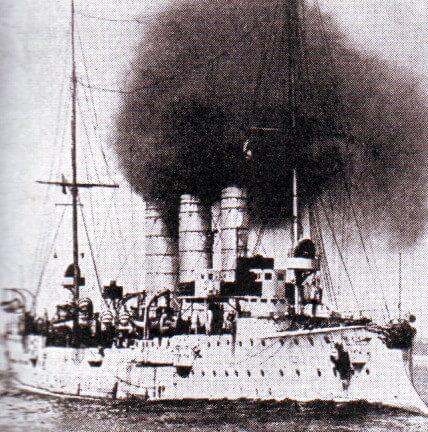 Admiral Graf von Spee's light cruiser SMS Leipzig