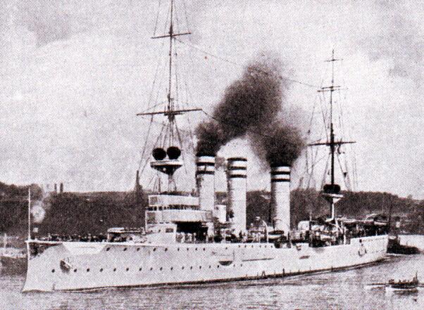 Admiral Graf von Spee's light cruiser SMS Nürnberg