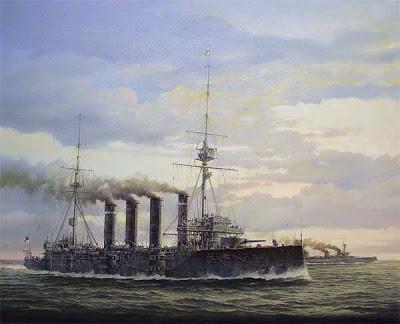 Rear Admiral Sir Christopher Cradock's flagship the armoured cruiser HMS Good Hope
