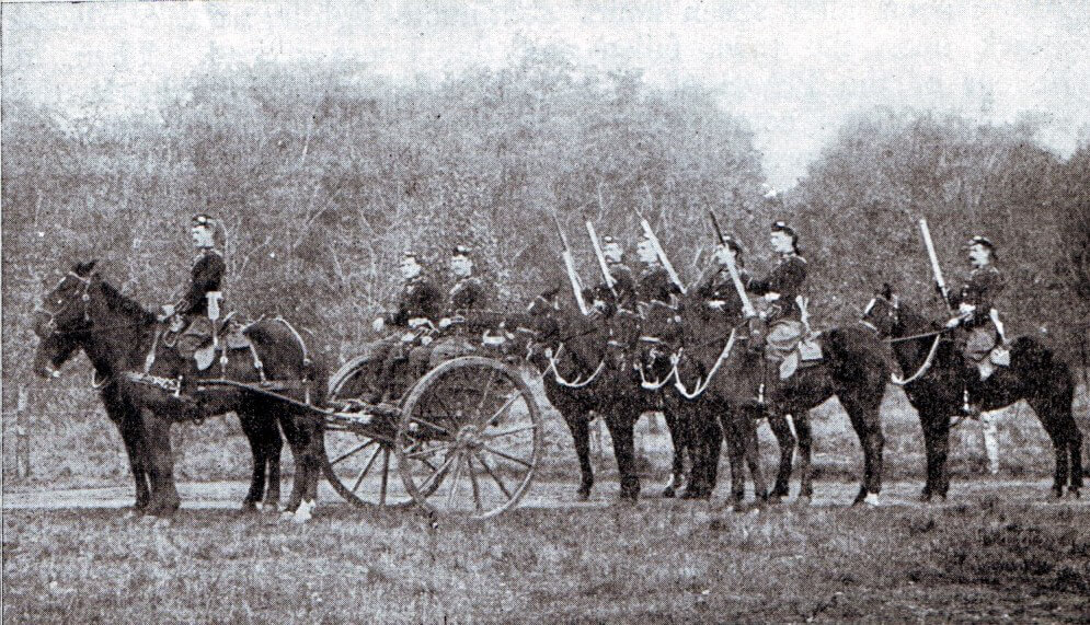 Mounted infantry machine gun detachment in 1899