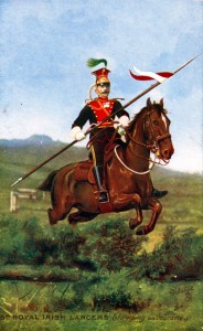 5th Royal Irish Lancers one of the British cavalry regiments in the Battle of Ladysmith or Lombard's Nek on 30th October 1899