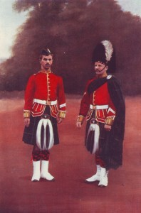 Gordon Highlanders in 1899. 2nd Gordons played a key role in the flanking infantry attack at the Battle of Elandslaagte on 21st October 1899