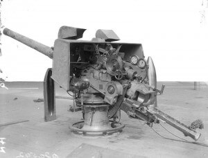 4 inch gun from HMS Lance, reputed to have fired the first naval shot in anger of the Great War at the German passenger steamer turned minelayer Königin Luise on 5th August 1914