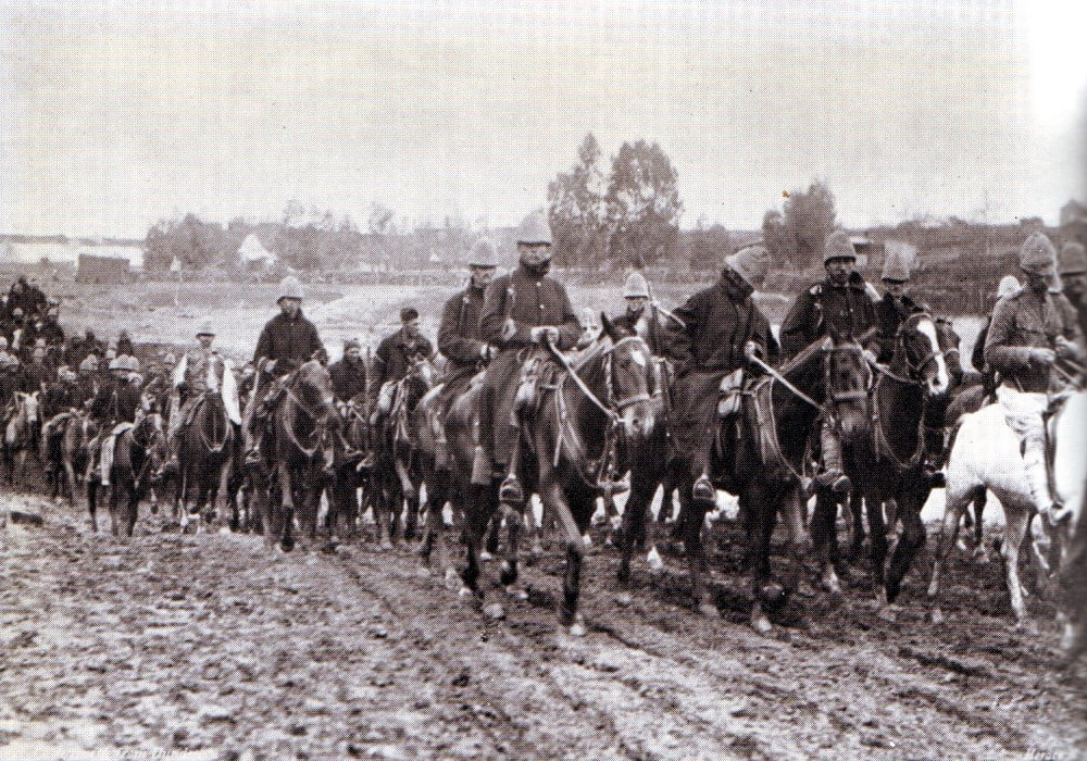 Brigadier General Yule's force retreating from Dundee to Ladysmith 22nd to 26th October 1889