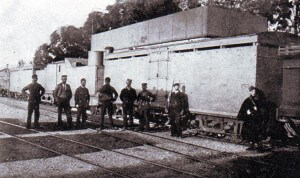 British armoured train in Natal
