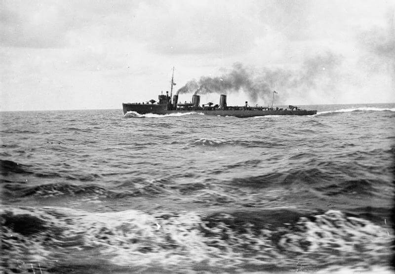 British destroyer HMS Loyal one of the British destroyers at the Texel action on 17th October 1914