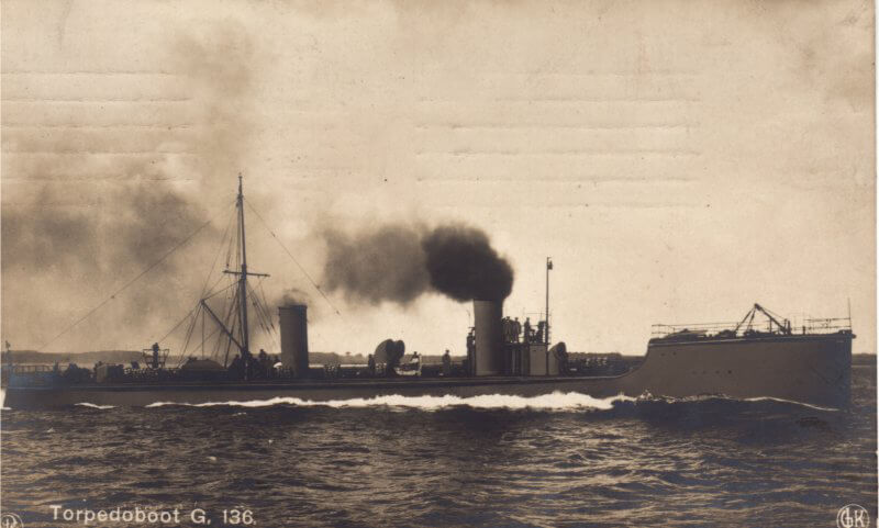 German torpedo boat similar to the German ships in the Texel action on 17th October 1914