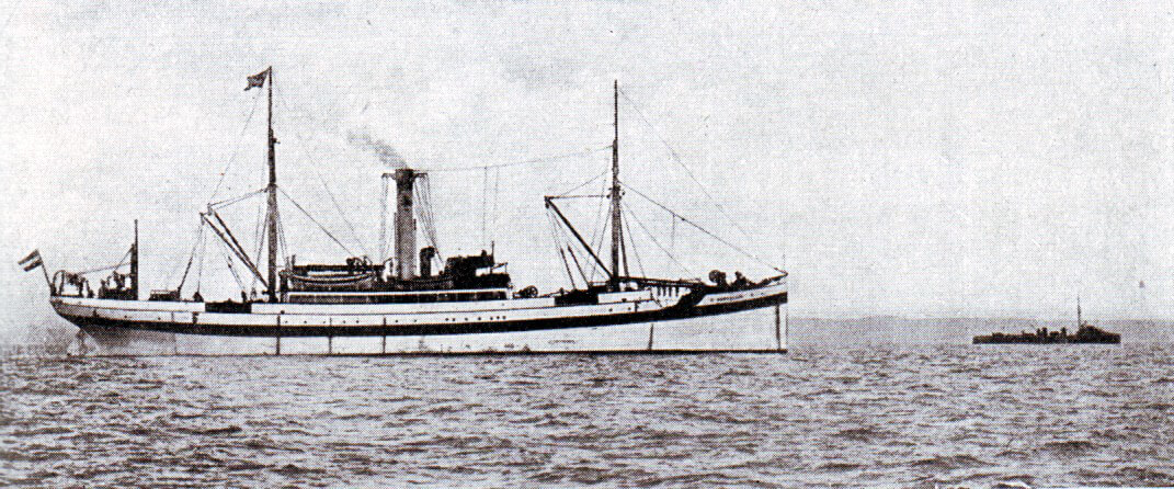 German ship Ophelia that the Germans claimed to be a hospital ship and that was detained by the Royal Navy following the Texel action on 17th October 1914
