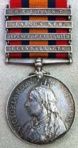 Queen's South Africa medal with clasp for the Battle of Elandslaagte on 21st October 1899