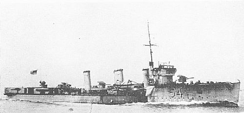 British destroyer HMS Legion one of the British destroyers at the Texel action on 17th October 1914