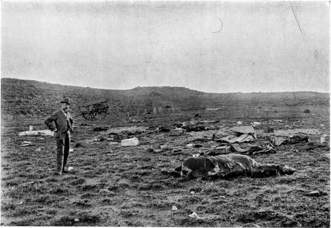 The Elandslaagte battlefield after the battle on 21st October l899