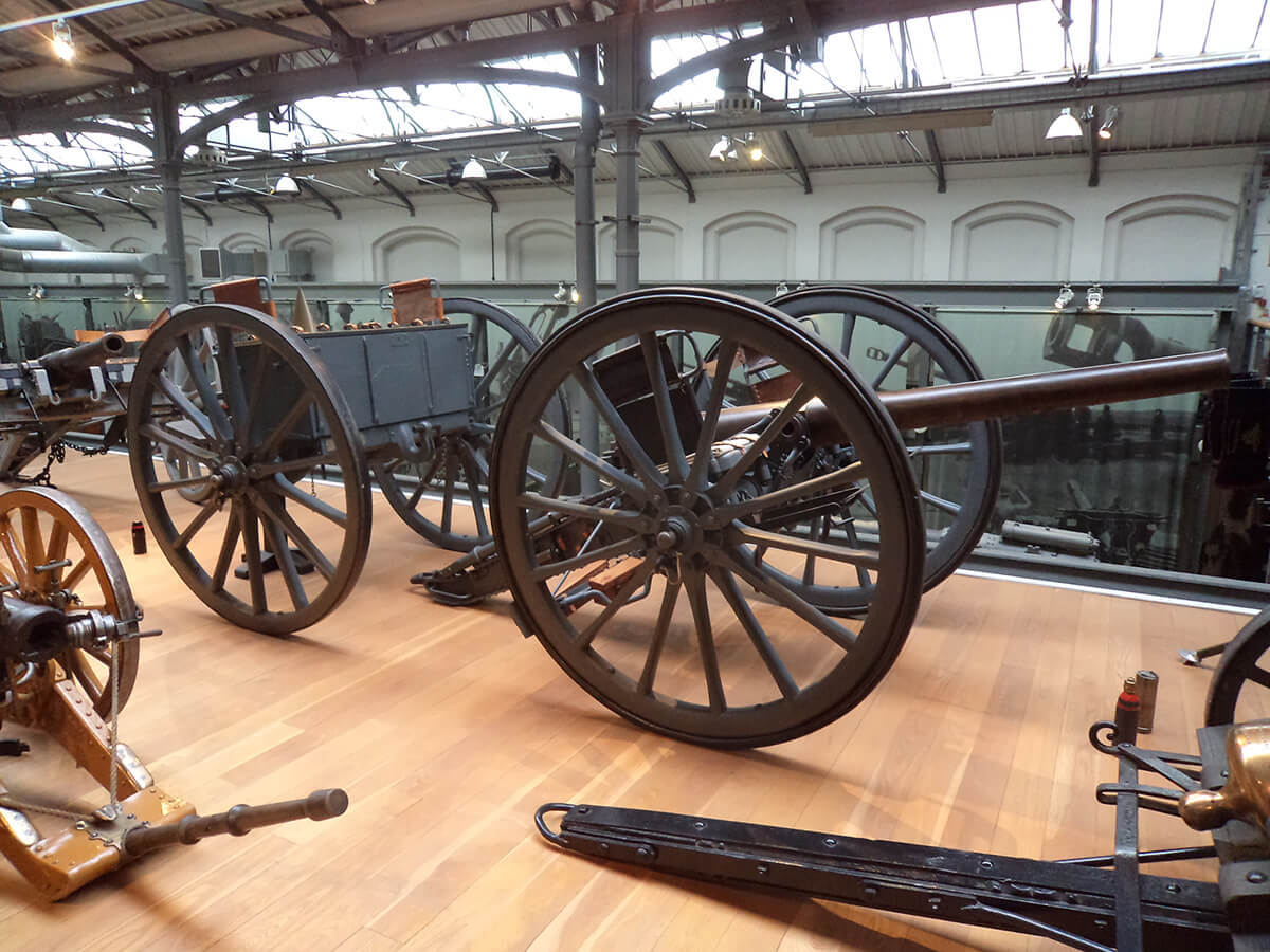 British 15 pounder RBL field gun 1901