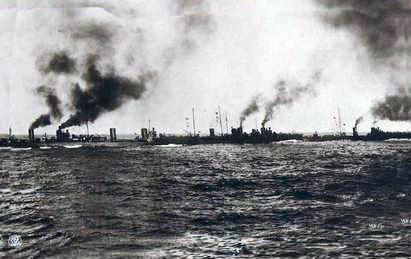 German 7th Half-Flotilla of S115, S116 (not present at the Texel action), S117, S118 and S119: Texel action on 17th October 1914 in the First World War