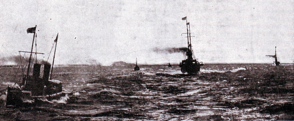 German torpedo boats leaving Kiel Harbour
