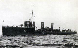 British destroyer HMS Lennox one of the British destroyers at the Texel action on 17th October 1914 in the First World War