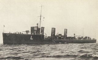 British destroyer HMS Lennox one of the British destroyers at the Texel action on 17th October 1914