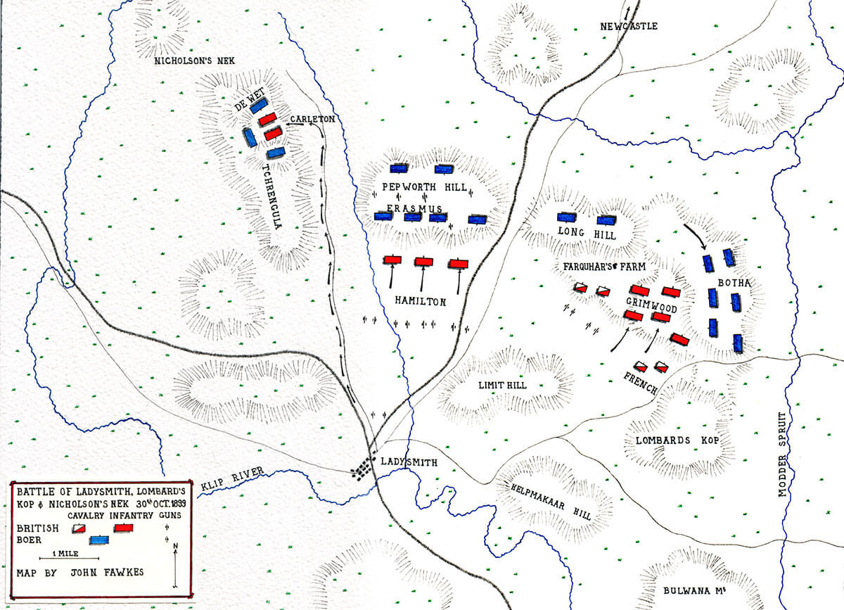 Map of the Battle of Ladysmith