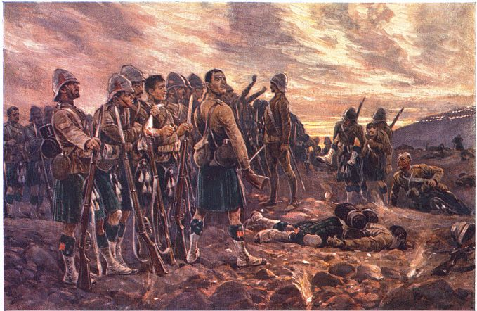 Methuen's disastrous defeat at the hands of Cronje's Boers, the Highland Brigade suffering severe loss, at the Battle of Magersfontein on 11th December 1899