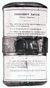 British emergency ration pack used in the Boer War
