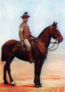 Sergeant Major of New South Wales Lancers in 1889. The regiment had its baptism of fire at the Battle of Belmont on 23rd November 1889