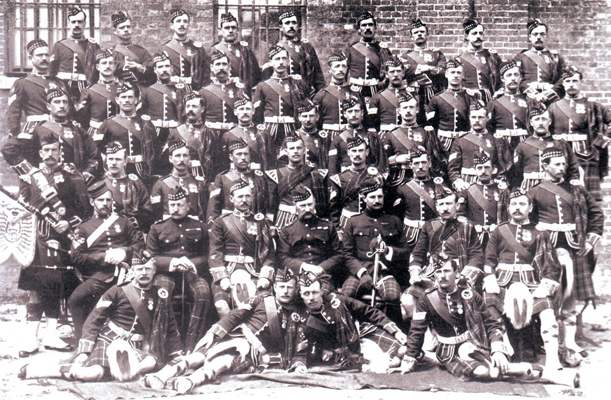 Non-commissioned officers of the 2nd Seaforths: many of these soldiers became casualties at the Battle of Magersfontein on 131th December 1899