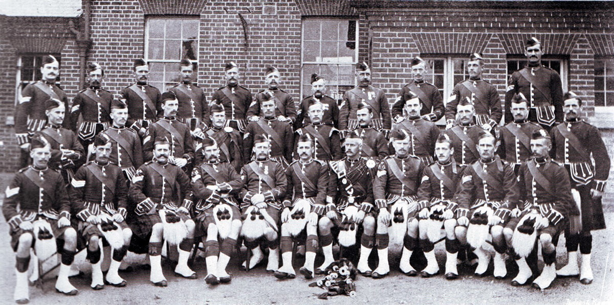 Non-commissioned officers of 2nd Black Watch: many of these soldiers became casualties at the Battle of Magersfontein on 11th December 1899