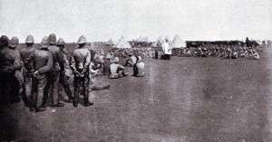 Divine service in the British camp before the Battle of Magersfontein on 11th December 1899