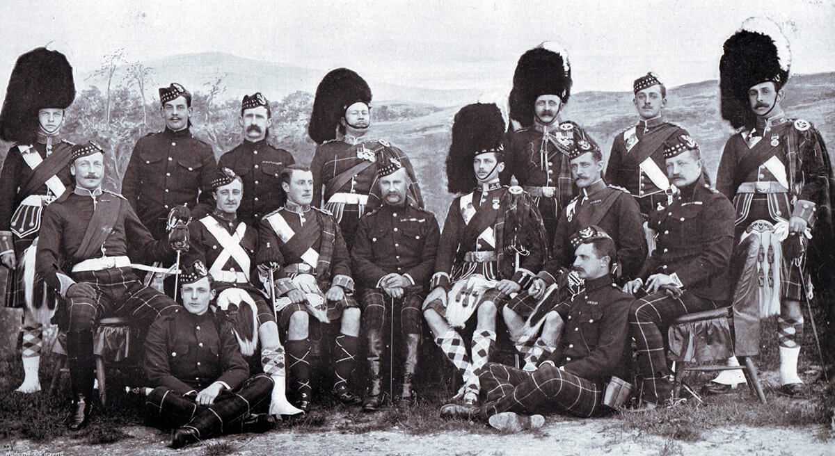 Officers of 2nd Seaforth Highlanders, one of the battalions of the Highland Brigade at the Battle of Magersfontein on 11th December 1899