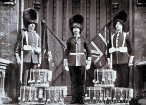 Drums and Colours of 2nd Coldstream Guards