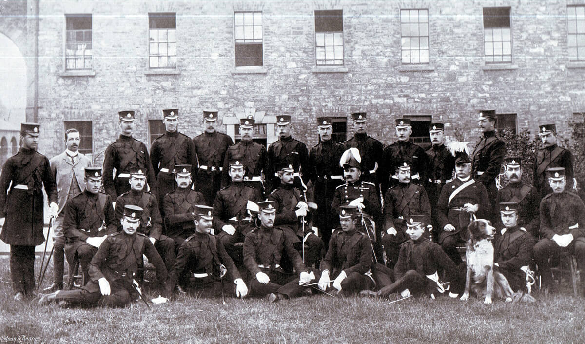 Officers of the 2nd Coldstream Guards. The Battalion fought at the Battle of Magersfontein on 11th December 1899