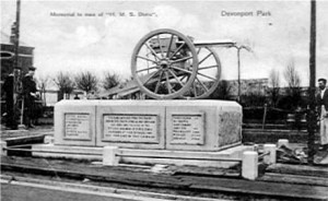 The memorial in Devonport to the Royal Marine and Royal Navy casualties from HMS Doris during the Boer War