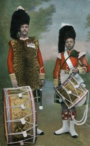 Drummers of the Seaforth Highlanders: the regiment's 2nd Battalion fought at the Battle of Magersfontein on 11th December 1899 in General Wauchope's Highland Brigade