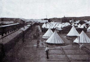 The British depot camp at Orange River Bridge in 1899