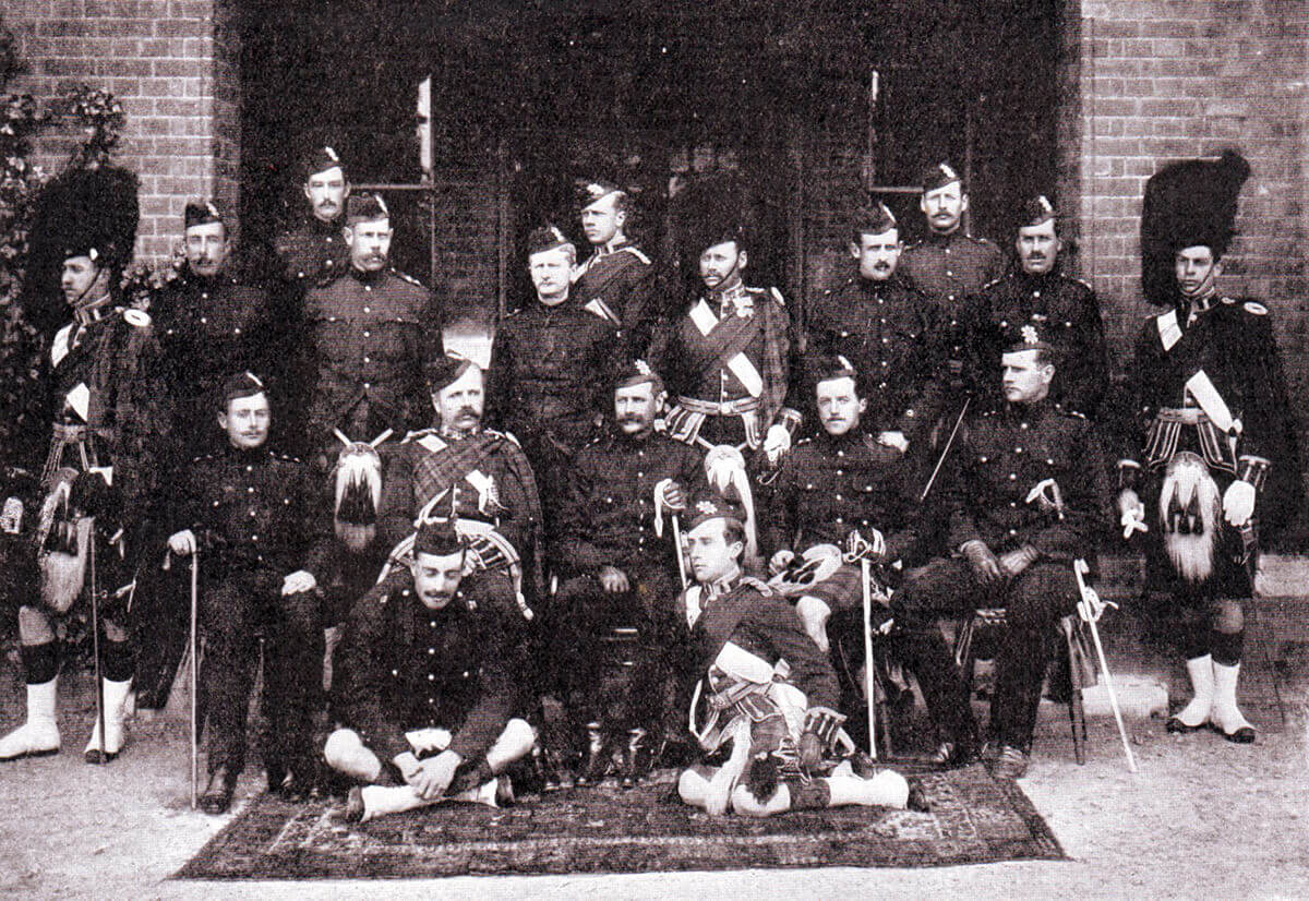 Officers of 2nd Black Watch in 1899: of these officers six were killed and one was wounded in the Battle of Magersfontein on 11th December 1899