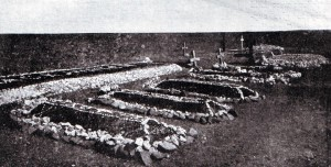 Graves of Highlanders killed at the Battle of Magersfontein on 11th December 1899