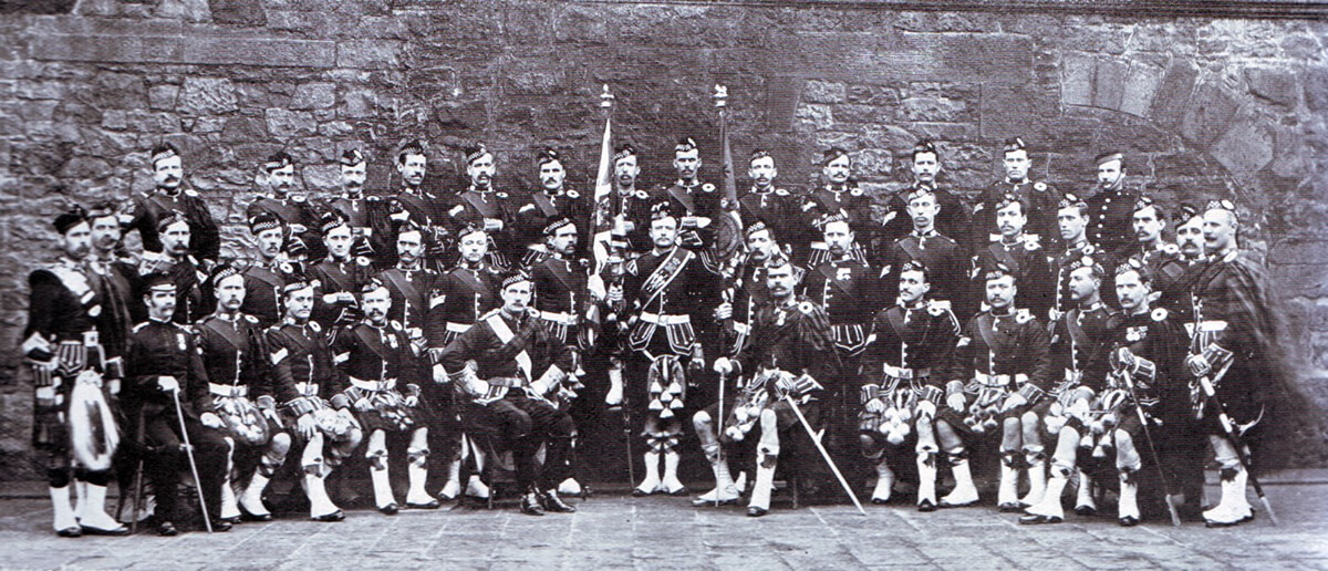 Non-commissioned officers of the 1st Argyll and Sutherland Highlanders, one of the battalions of the Highland Brigade at the Battle of Magersfontein on 11th December 1899