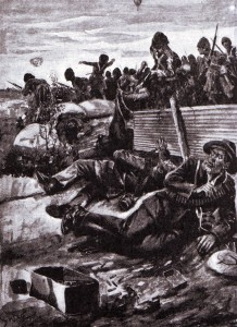 Highland attack on the Boer Scandinavian Corps at the Battle of Magersfontein on 11th December 1899