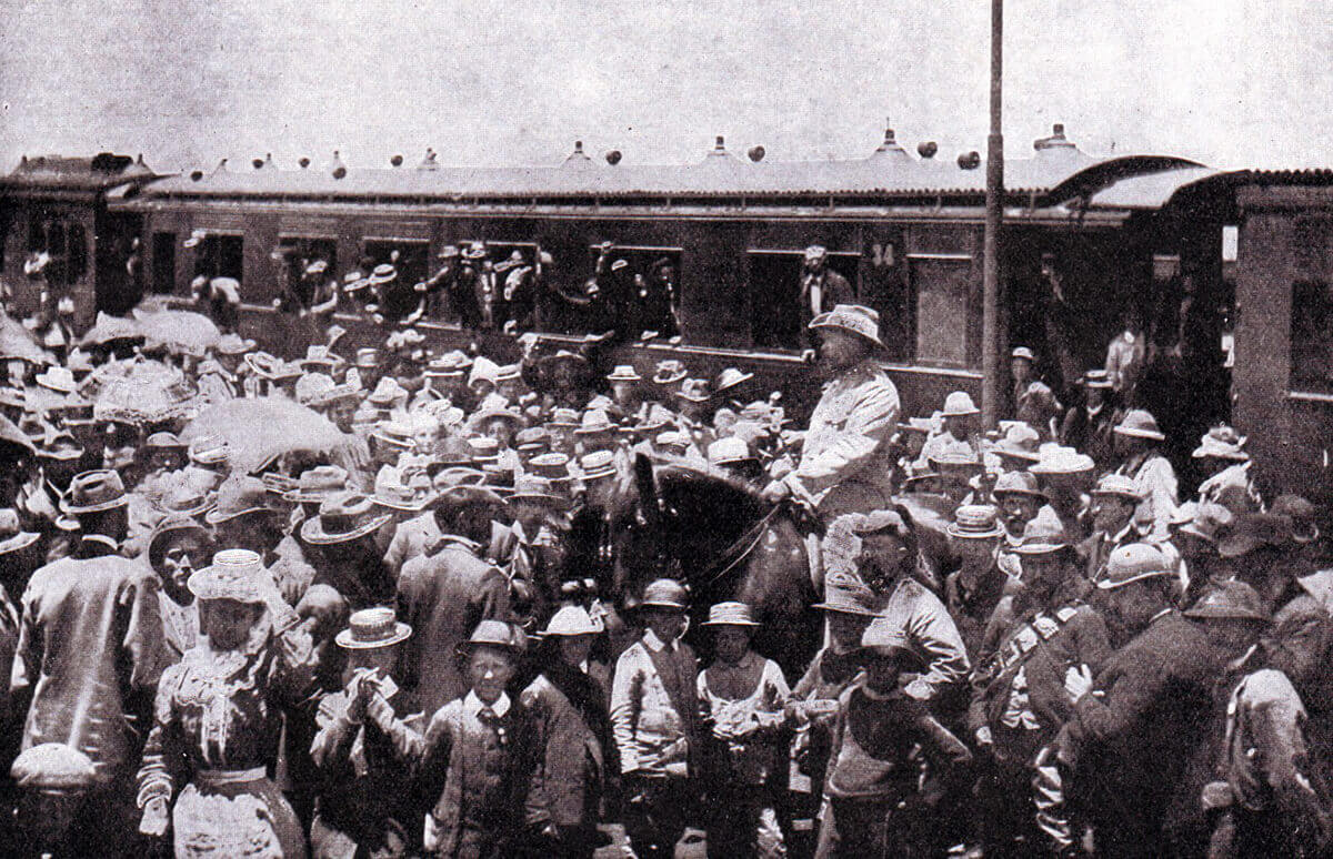 Boers leaving Pretoria for the front during the Boer War