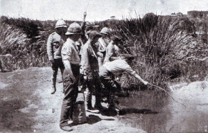 British soldiers off duty during Methuen's advance to Kimberley in late 1899