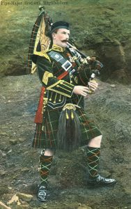 Pipe Major Seaforth Highlanders: the regiment's 2nd Battalion fought at the Battle of Magersfontein on 11th December 1899 in General Wauchope's Highland Brigade