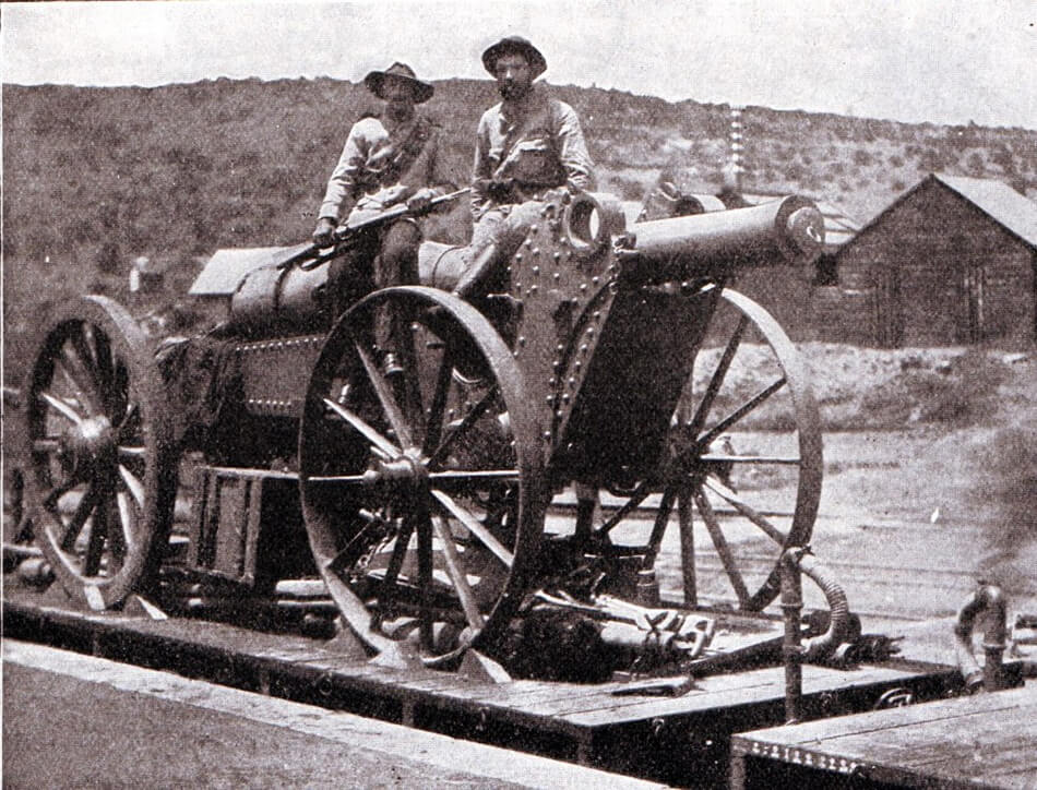 Boer Creusot 15 cm (6 inch) field gun, one of the guns used at the Battle of Magersfontein on 11th December 1899
