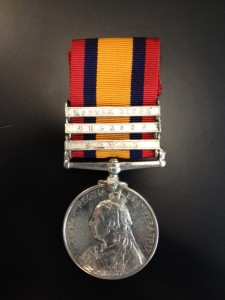 Queen's South Africa Medal with clasps for 'Natal' 'Belmont' and 'Modder River'
