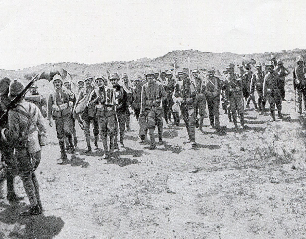 Scots Guards after the Battle of Magersfontein on on 11th December 1899 in the Great Boer War