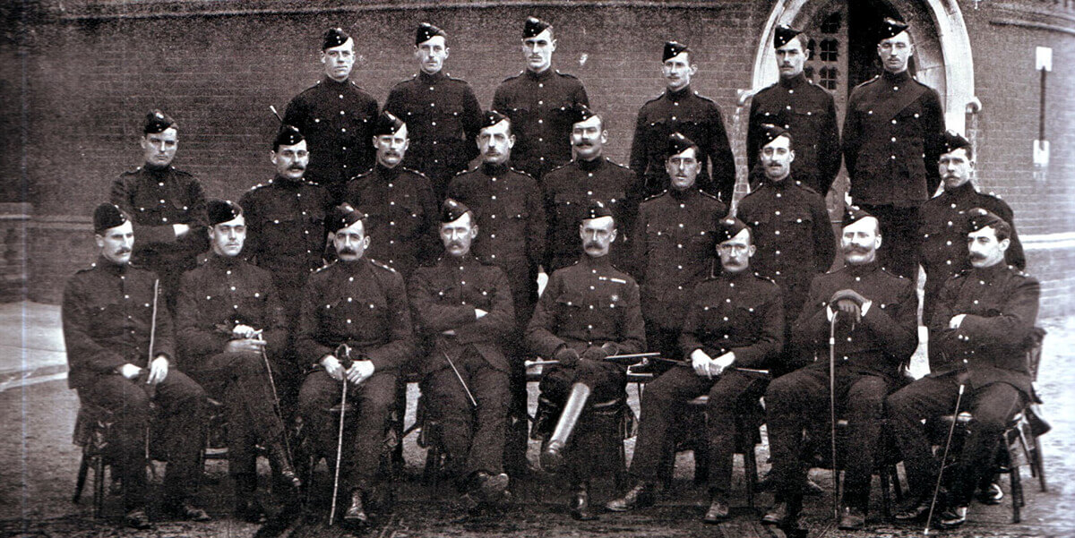 Officers of 2nd Northumberland Fusiliers, one of General Gatacre's two infantry battalions at the Battle of Stormberg on 9th December 1899