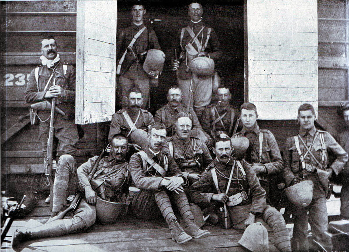 Officers of 2nd Royal Irish Rifles, one of General Gatacre's two infantry battalions at the Battle of Stormberg on 9th December 1899