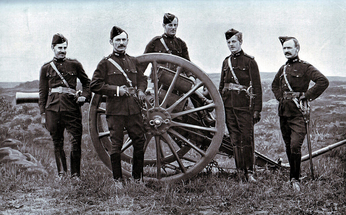 Officers of 77th Field Battery Royal Field Artillery, one of Gatacre's batteries at the Battle of Stormberg on 9th December 1899