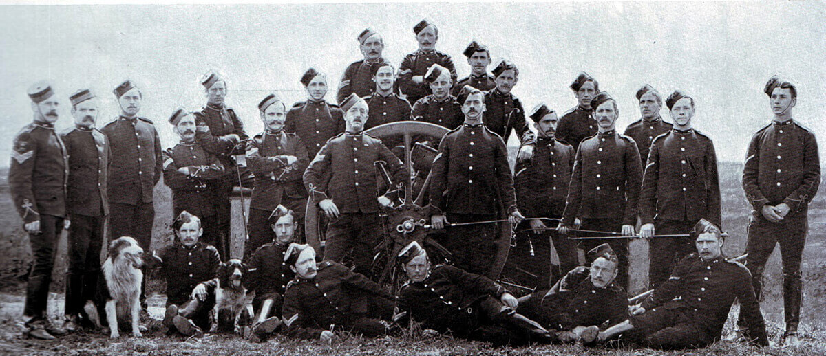 Non-commissioned officers of 77th Field Battery Royal Field Artillery, one of Gatacre's batteries at the Battle of Stormberg on 9th December 1899