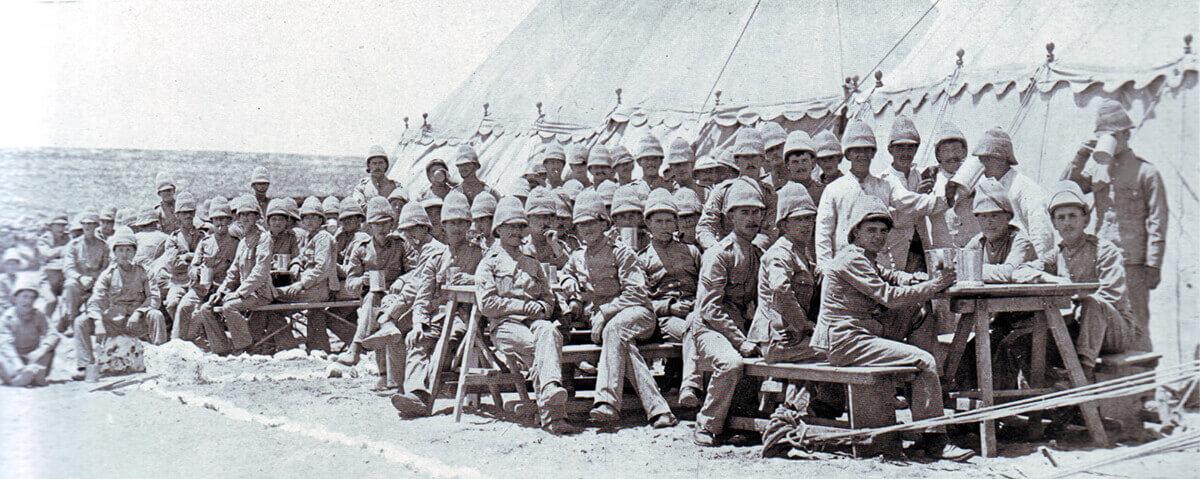 1st Border Regiment in camp in Natal during the Boer War