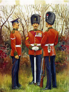 Northumberland Fusiliers in 1901. The Sergeant is wearing the Queen's South Africa Medal and the King's South Africa Medal