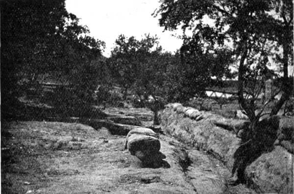 Boer trenches at the Battle of Colenso on 15th December 1899 during the Boer War